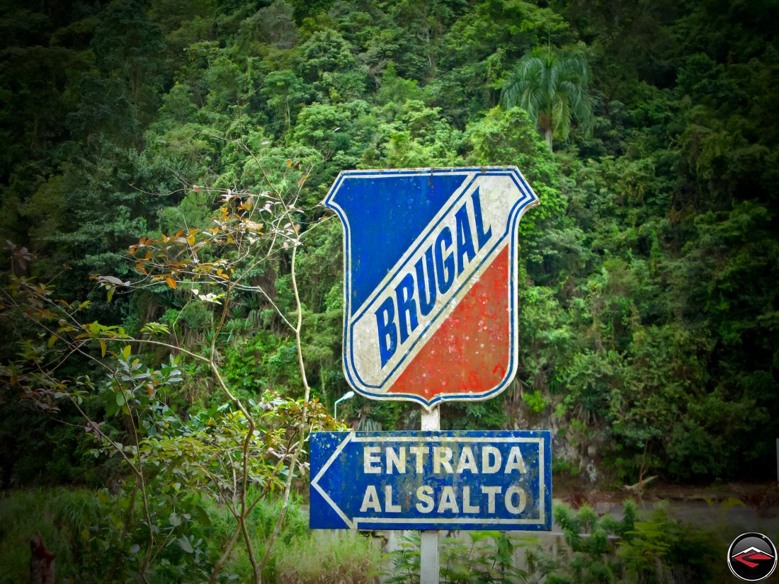 Street signs sponsored by Brugal Rum - Entrada Al Salto