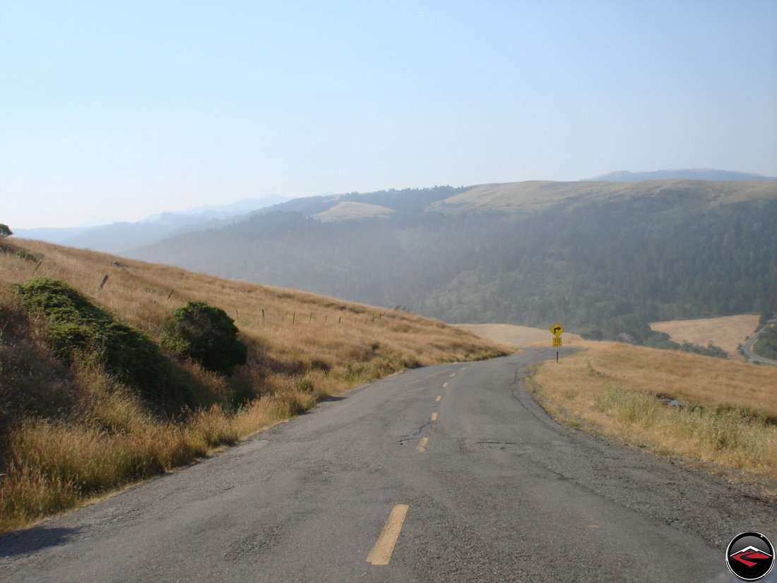 Nearing the coast while riding on Mattole Road on the loast coast of northern California