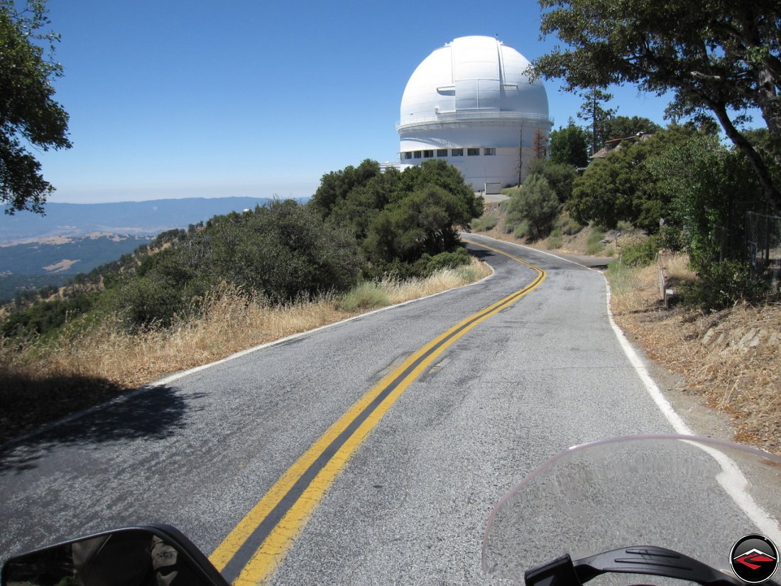 Nearing Lick Observatory, along California Highway 130, San Antonio Valley Road, at the top of Hamilton Mountain