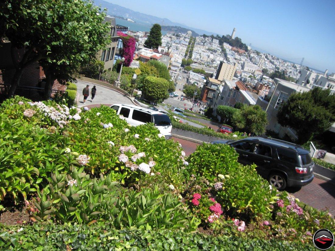 San Francisco, California, at the top of Lombard Street