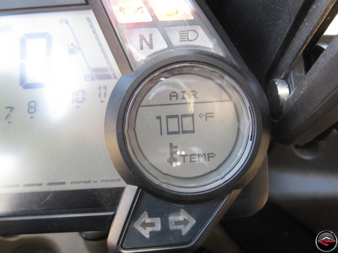 Ducati Multistrada Speedometer gauge reading 100-degrees