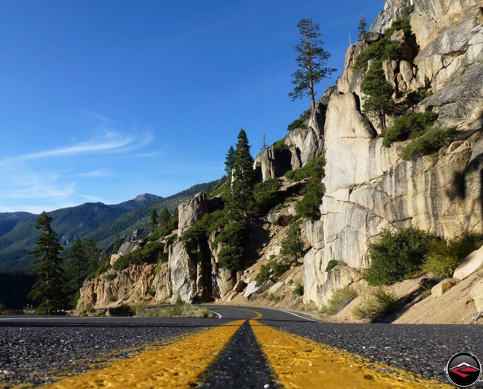 California Highway 108, Sonora Pass, double-yellow lines, one of my favorite roads. Wallpaper worthy