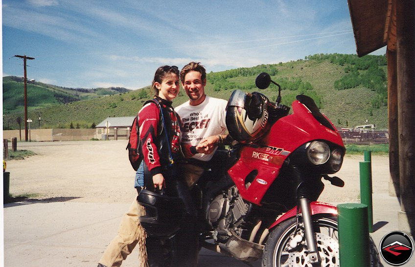 Danny and Loretta on a TDM850