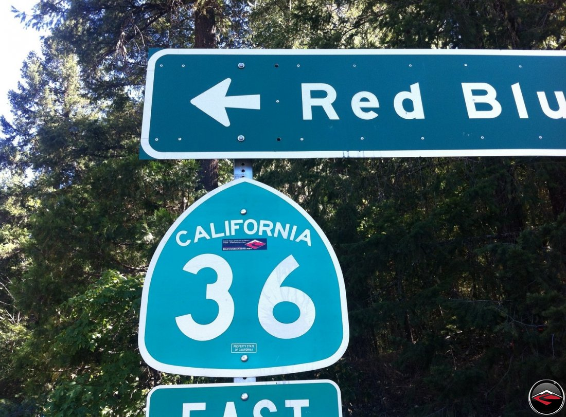 California Highway 36 Road Sign. CanyonChaser Approved