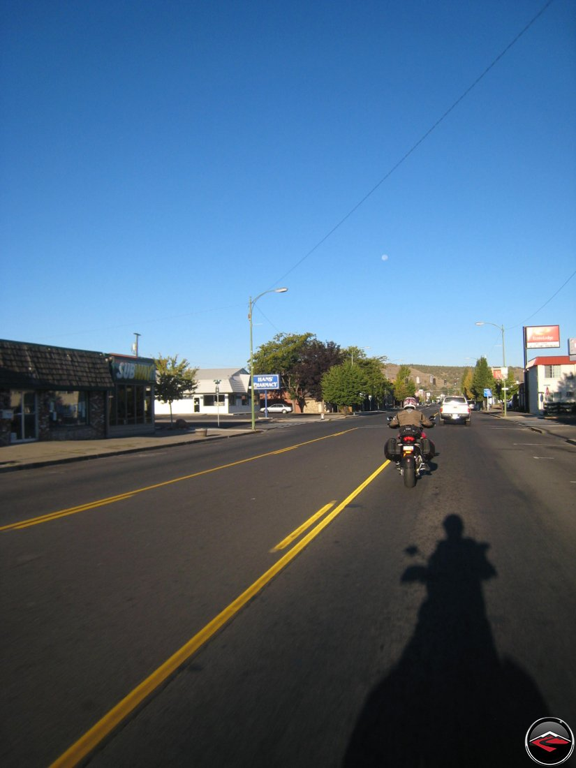Leaving Prineville, Oregon early in the morning